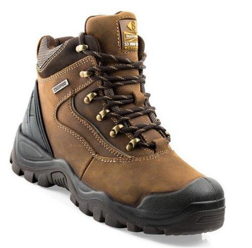 Buckler BSH002BR 09 Waterproof Safety Boots Buckshot 2 Size 9 UK Euro 43